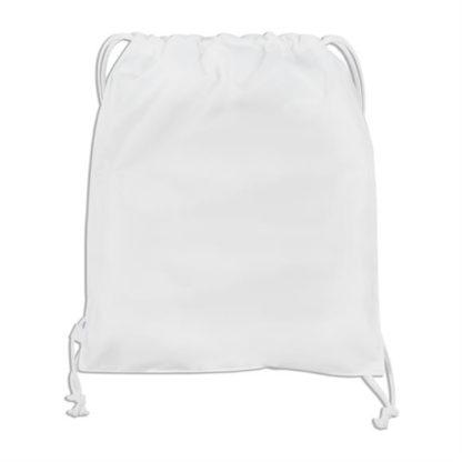 White drawstring back pack