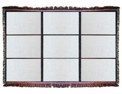 Nine panel throw blanket