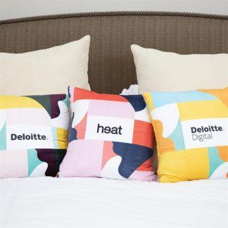 White throw cushion cover