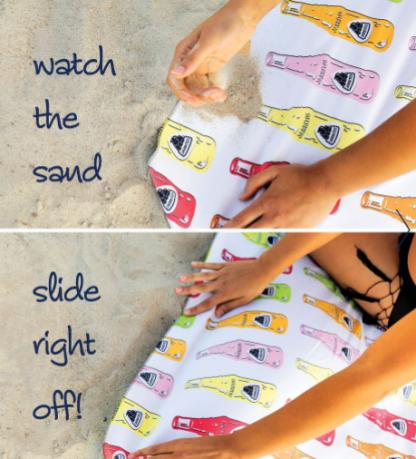 Sand proof beach towel