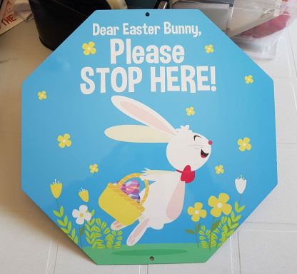 Easter stop sign
